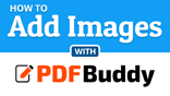 How to add images to a PDF file