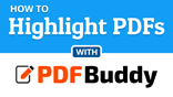 How to highlight a PDF file